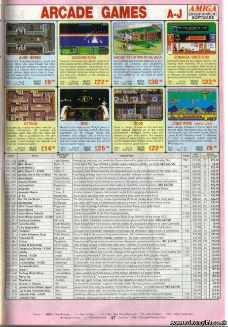 amiga arcade games