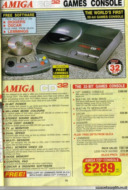 amiga cd32 games console