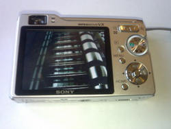 Sony Cyber-shot W80 digital camera back