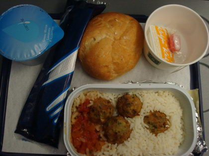 finnair vegetarian vlml in-flight meal
