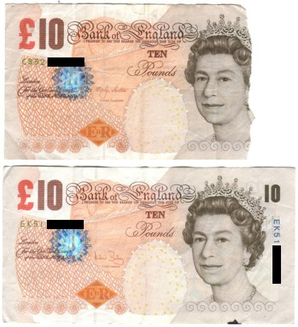 NatWest cash machine banknotes