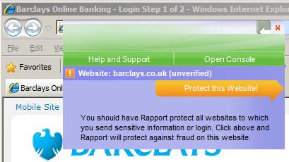 trusteer rapport protect this website