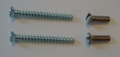 original vs new screws for adsl faceplate