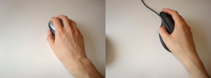 wrist angle changes with ergonomic mouse