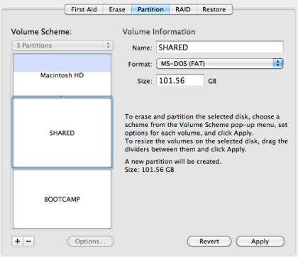 three partition macbook pro