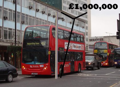 million pound stack and bus