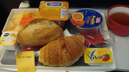 air france vlml vegetarian in flight breakfast