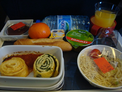 air france vlml vegetarian in flight dinner