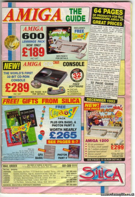 amiga catalogue front page