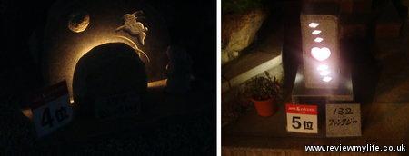 mure gempei stone lanterns 4th5thprize