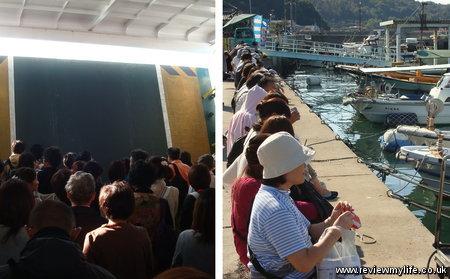 sotouchi art festival queues 1